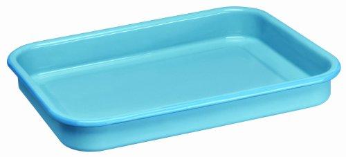 Cinsa 312068 Trend Ware Enamel on Steel Lasagna Pan, 4-1/2-Quart, Arctic Blue
