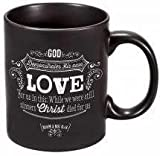 "Retro Chalk Board Collection ""Love"" Verse Mug – Romans 5:8"