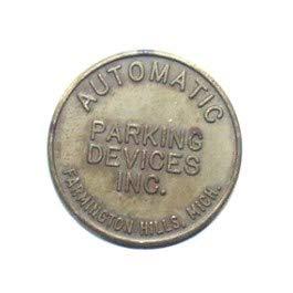Automatic Parking Devices Inc. Farmington Hills, Michigan Parking Meter Token Coin