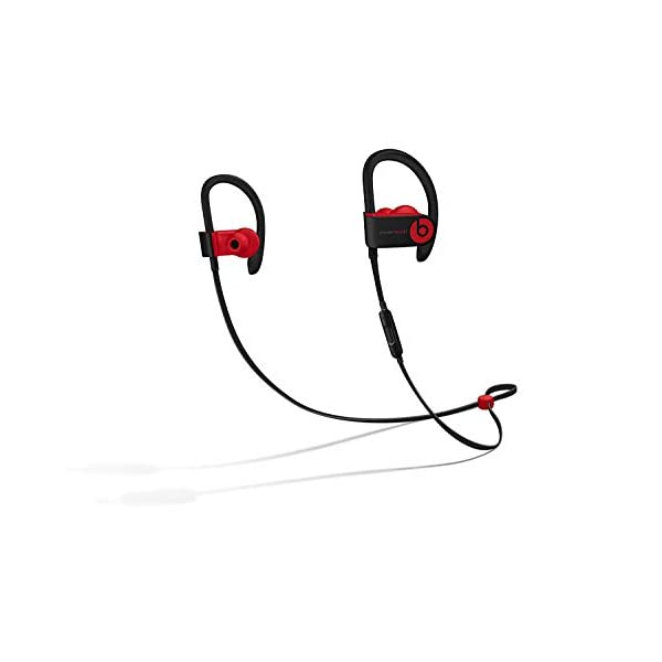 Beats Powerbeats3 Wireless Ear-Hook Headphones Decade Collection Black/Red MRQ92 (Renewed) 1