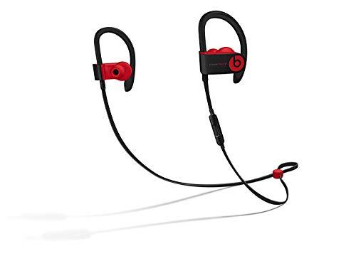 (Beats Powerbeats3 Wireless Ear-Hook Headphones Decade Collection Black/Red MRQ92 (Renewed))