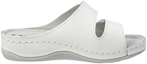 Tamaris Damen 27510 Pantoletten Weiß (White Leather)