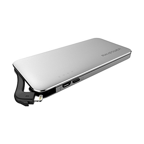 iPhone iPad USB 3.0 Flash Drive with 5000mAh Power Bank, RAVPower 3 in 1 SD Card Extension Reader with Lightning Connector, Instant Backup, and Direct File Saving