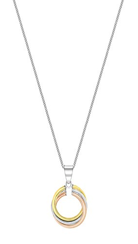Carissma Gold Collier avec pendentif - (375/1000) - Or tricolore - Femme - 46 centimeters
