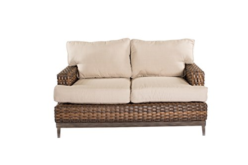 Metropolitan Home Loveseat with Cushions, Natural