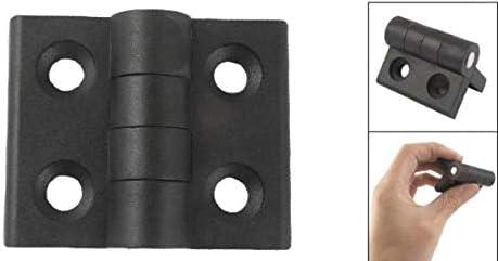 Zeen Bisagra de pl/ástico 1PC Negro Fijo Tama/ño del Agujero de 7 mm Bisagra de pl/ástico Reforzado con avellanado Agujero de Soporte de la bisagra