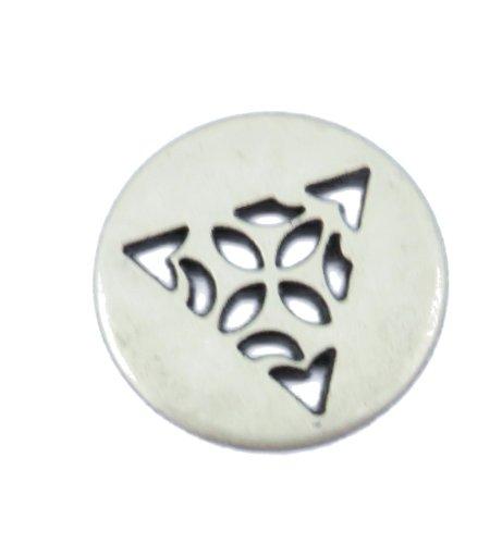 - Celtic Triangle Button - Antique Silver Finish. 1