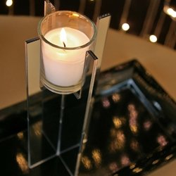 Small Mirrored Acrylic Votive Candle Holder Centerpiece Riser, 8 inch