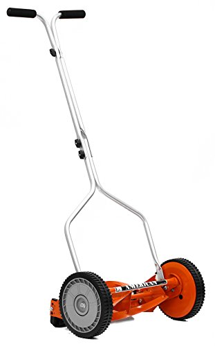 American Lawn Mower 1204-14 14-Inch 4-Blade Push Reel Lawn Mower (Print Battery Cart)