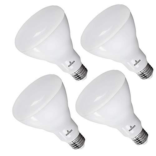 Blue Reflector Floodlight - Light Blue™ BR30 LED Bulb, 13.5W (85W) Soft White 2700K, Flood Light Bulb, 1100 Lumens, Dimmable, UL-Listed Energy Star-Qualified (Pack of 4)