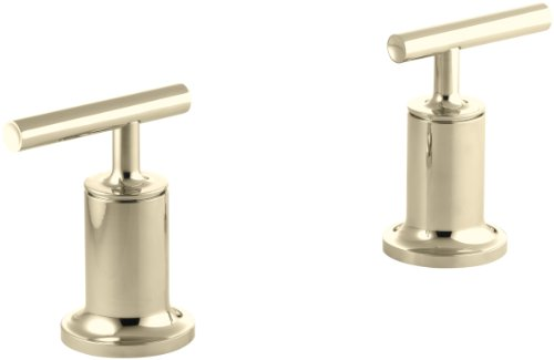 KOHLER K-T14429-4-AF Purist  Deck- or Wall-Mount High-Flow Bath Trim with Lever Handles, Handles Only, Valve Not Included, Vibrant French (Af Purist Deck)