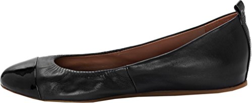 Lilliane Leather Women's ED Black Degeneres Black 2 Flat Ellen vnxSp4wSqt