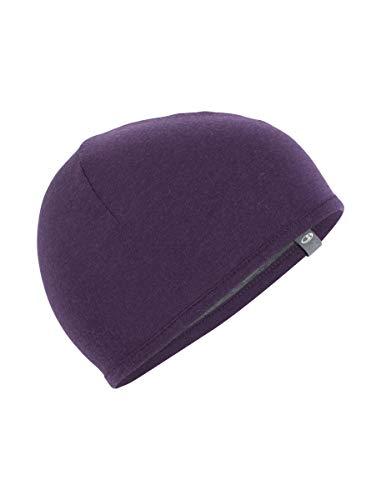 (Icebreaker Merino Kids' Pocket Hat, Eggplant/Gritstone Heather, Medium)