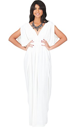 KOH-KOH-Womens-Long-V-Neck-Summer-Sexy-Gown-Grecian-Flowy-Sleeveless-Maxi-Dress
