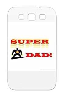 Super Dad Red Baby Family Fathers Day For Dads Tshirt Sumsang Galaxy S3 Protective Case