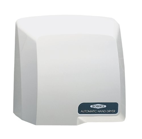 Bobrick 710 CompacDryer ABS Plastic Surface-Mounted Automatic Hand Dryer, Molded Gray Finish, 115V