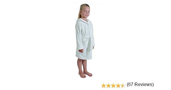 Aumsaa - Albornoz con capucha para niña, 100 % algodón, toalla de ...