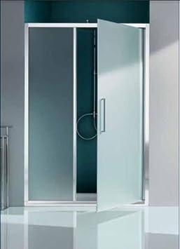 Mampara de ducha Europa Panel abatible y paredes fijo en línea con cristal transparente – Perfil cromado: Amazon.es: Bricolaje y herramientas