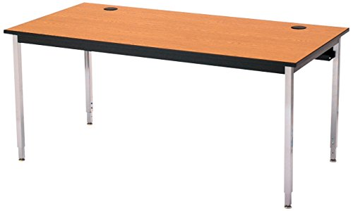 (Smith Carrel 01555C Oak Adj. Ht. 1500 Series Computer Table, Bannister Oak)