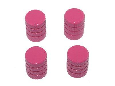 Tire Rim Wheel Aluminum Valve Stem Caps - Pink - Pink Rim