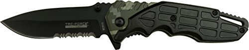 Master Cutlery TacForce Evolution Assisted 3.6 in Comboedge TFE-A030-BCA, Black/Camo