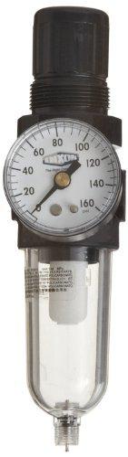 Dixon B07-202MGC Norgren Series Manual Drain Carded Miniature Filter/Regulator with Transparent Bowl, 21 SCFM, 1/4'' Port Size, 5-100 PSI by Dixon Valve & Coupling