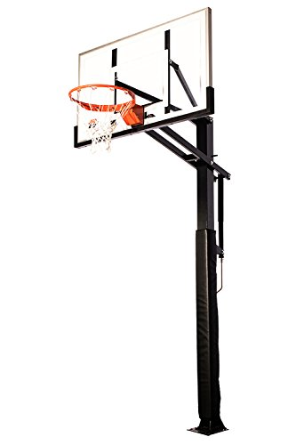 "Ryval D554 Basketball Hoop - 54"" Tempered Glass Backboard ..."