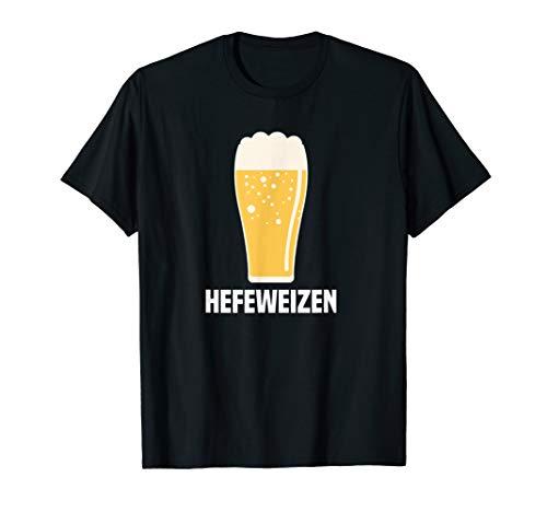 Beer Large T-shirt - Hefeweizen German Wheat Beer Pint Glass Graphic Tee
