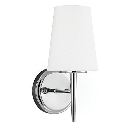 Sea Gull Lighting 4140401-05 One-Light Wall or Bath Lighting Fixture, Chrome Finish