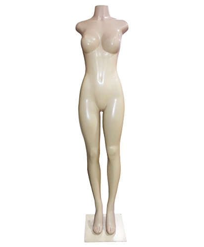 AMKO 9004B Brazilian Style Full Body Mannequin without Arms. Female Torso with Heavy Metal Base. Dress Forms and Mannequins - Charm In Ultra Bathroom
