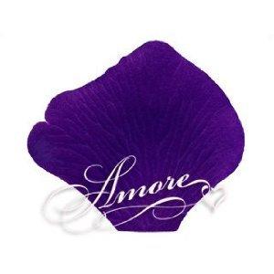 2000 Wedding Silk Rose Petals Purple (Indigo-Regency) 2 inch Wide
