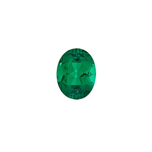 0.35-0.54 Cts of 6x4 mm AAA Oval Russian Lab Created Emerald ( 1 pc ) Loose Gemstone