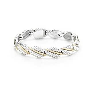 Tiffany And Co Bracelet Leather Silver And Gold 012