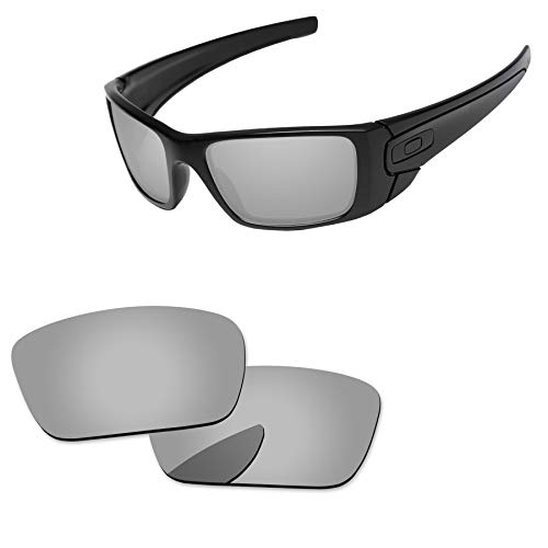 PapaViva Lenses Replacement for Oakley Fuel Cell Chrome Silver