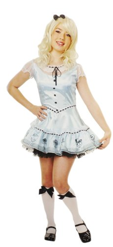 Make An Alice In Wonderland Costumes (Alice in Wonderland Blue Girls Large Halloween Costume)