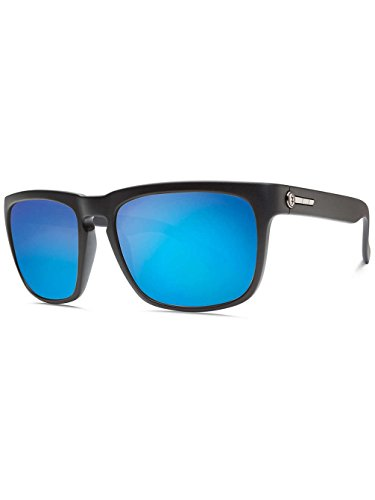 Electric Visual Knoxville Sunglasses Matte Black/OHM Grey Blue Chrome