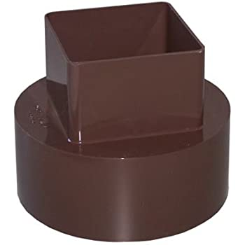 Plastic Universal Downspout To Drain Tile Adapter 4x4x4