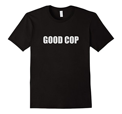 Mens Good Cop Funny Couple Outfit (Bad Cop / Good Cop). Large Black