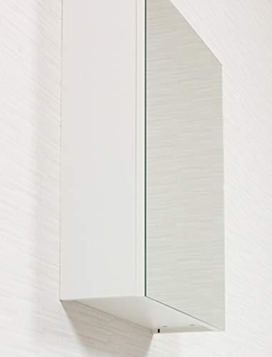 55x62 cm White Semi-Gloss Mirror Cabinet W//H