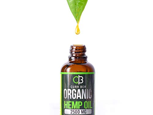 Organic Hemp Oil (2500 mg) – 100% Natural Hemp Extract | Soothing Hemp Oil Drops w/ Fresh Minty Taste | Relieve Pain, Anxiety, Insomnia Sleep Aid | Promote Weight Loss, Skin Regeneration, Hair Growt