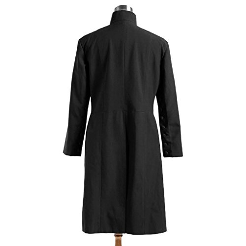 Men's Professor Severus Snap Black Robes Cosplay Halloween Costumes by Costume Party Heart (Image #4)