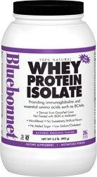 Nutrition Bluebonnet - 100% naturel Whey Protein Isolat Flavor naturel en poudre d'origine - £ 2,2.