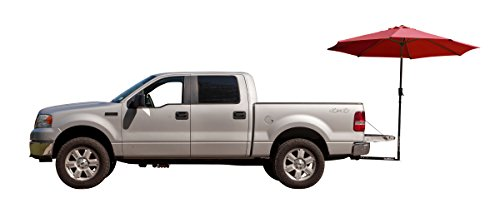 Tailbrella Red Tailgate Hitch Umbrella Canopy for Truck SUV Tailgater. 9FT Large Water-Resistant Tailgating Tents for Outdoor Camping, Beach, Travel, Hunting. EZ Pop Up Umbrellas for Shade