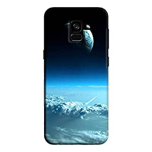 Cover It Up - Blue Planets from Space Galaxy A7 2018 Hard Case