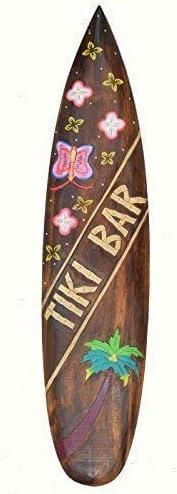 Planche de surf 100cm keawakapu Beach deco en bois pour accrocher Hawaii Beach surfeur