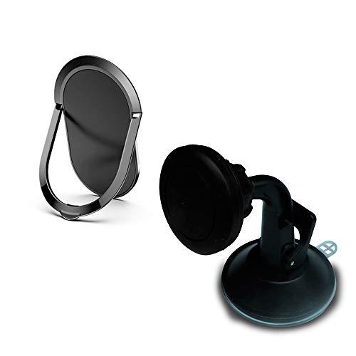 Kit Suporte de Celular Magnético 360° Vexattract + Suporte Anel Magnético para Celular Universal Vexring 2.0