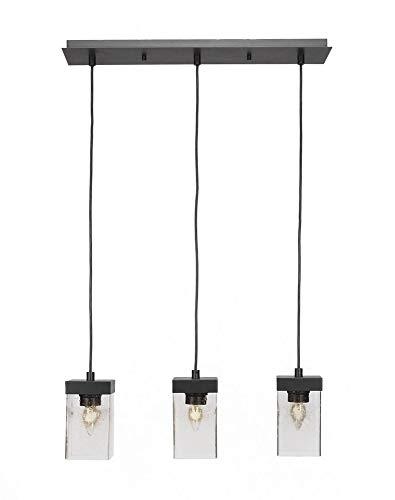 - Toltec Lighting 3213-ES-530 Nouvelle - Three Light Cord Mini Pendant, Espresso Finish with Clear Bubble Glass