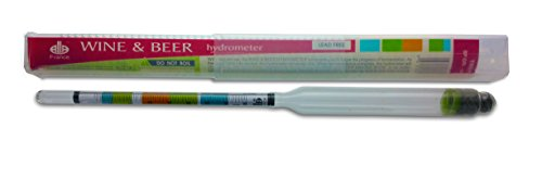 Hydrometer - This is a Triple Scale Hydrometer for Home Brewing - Beer and Wine Making - Test Density, Alcohol and Brix - Guaranteed Accurate