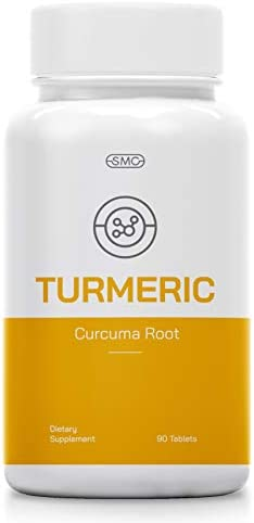 Organic 1400MG Turmeric Curcuma Root Pills with Organic Black Pepper Supplement 90 Tablets. Potent Pain Relief, Anti-Inflammatory, Antioxidant, Joint Support. Non-GMO, No Soy, Gluten-Free.