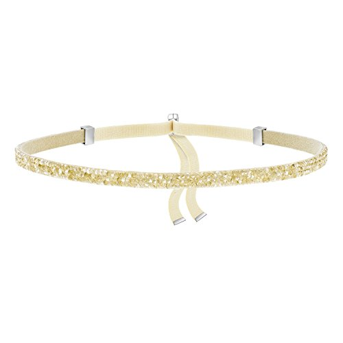 Swarovski Gold Tone Necklace - Swarovski Jewelry Gold Tone Crystaldust Choker